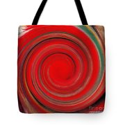 Twirl Red-0951 Tote Bag