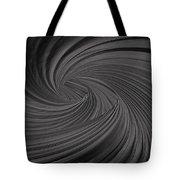 Twist To Black  - Black And Gray Art Tote Bag