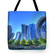 Twisted Chicago Skyline Tote Bag