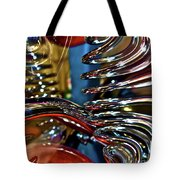 Twisted Chrome Tote Bag