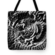 Twisted Gears Abstract Tote Bag