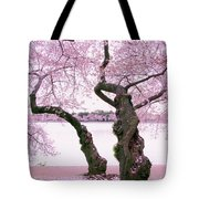 Twisted In Bloom Tote Bag