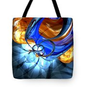 Twisted Spiral Abstract Tote Bag