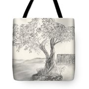 Twisted Trees Tote Bag