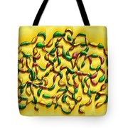 Twisted Vines On Yellow Tote Bag