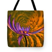 Twisted Waterlily Tote Bag