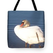 Twisted  White Swan Tote Bag