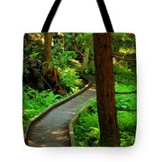 Twisting Path Through The Woods Tote Bag