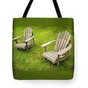 Two Adirondack Chairs Tote Bag