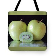 Two Apples And A Kiwi Tote Bag