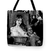 Two Artist Playing Chess At Place Du Tar Ter Tote Bag