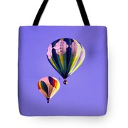 Two Balloons In The Clear Blue Sky  Tote Bag