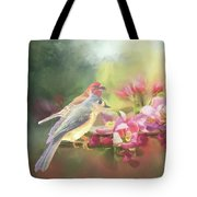 Two Birds Admiring The View Tote Bag