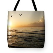Two Birds At Breakast Tote Bag