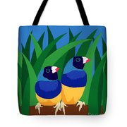 Two Birds Sharing A Branch Tote Bag