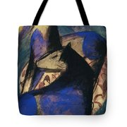 Two Blue Horses 1913 Tote Bag