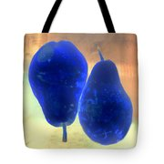 Two Blue Pears On Peach  Side By Side Tote Bag