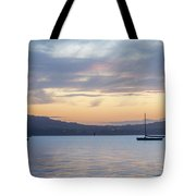 Two Boats In Blue Holywood Tote Bag