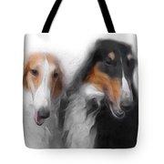 Two Borzois No 01 Tote Bag