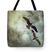 Two By Two They Flew Tote Bag
