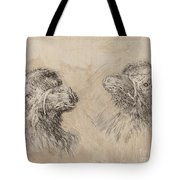 Two Camel Heads [recto] Tote Bag