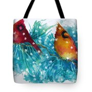 Two Cardinals Tote Bag