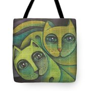 Two Cats  2000 Tote Bag