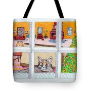 Two Cats In The Window Tote Bag