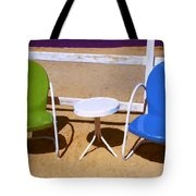 Two Chairs Tote Bag