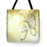 Toast Champagne Glasses Tote Bag