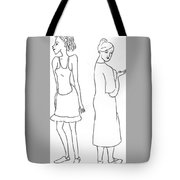 Two Characters Tote Bag