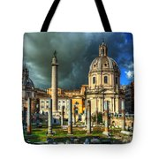 Two Churches And Columns Tote Bag