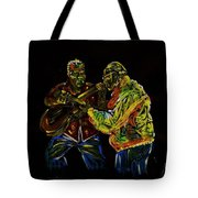 Two Classical Guitar Players  Tote Bag