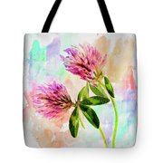 Two Clover Flowers With Pastel Shades. Tote Bag