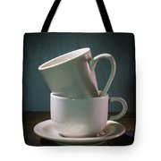 Two Coffee Cups On Saucer Tote Bag