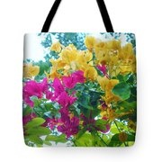 Two Color Flowers Tote Bag