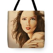 Two Color Portrait Tote Bag