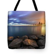 Two-colored Sky During The Sunrise Tote Bag