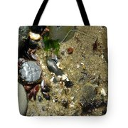 Two Crabs And One Worm Tote Bag