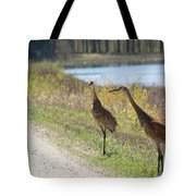 Two Cranes Tote Bag