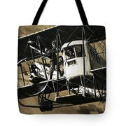 Two Crewmen Amid The Wires And Struts Of An Ilia Mourometz II Bomber Tote Bag