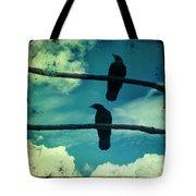 Two Crows Blue Lomo Sky Tote Bag