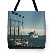 Two Cruise Ships Tote Bag