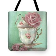 Two Cup Rose Painting Tote Bag