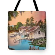 Bayou Blue Tote Bag