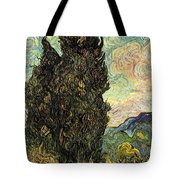 Two Cypresses Tote Bag