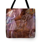 Two Dancers In Their Dressing Room Tote Bag