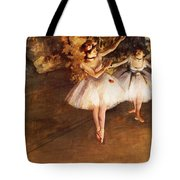 Two Dancers On Stage Tote Bag