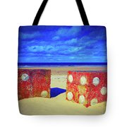 Two Dice On A Beach Tote Bag