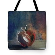 Two Dimensional Apple Tote Bag